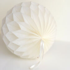 Ivory color tissue paper Honeycomb - wedding party decorations