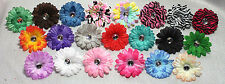 **SPECIAL** 2 INCH GERBERA DAISY SOLID COLORS HAIR BOW, FLOWER BOW, RHINESTONE
