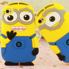 MM Soft 3D Pop Cartoon Despicable Me MINIONS Silicone Case Cover For iPhone 4 4S