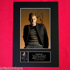 MICHAEL BUBLE Mounted Signed Photo Reproduction Autograph Print A4 86