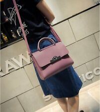 Women Fashion Litchi Grain Shoulder Bag Lock Catch Handbag Square Messenger Bag