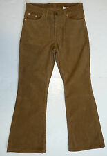 SALE! NEW MENS RETRO 60s 70s MOD INDIE FLARED CORDUROY FLARES CORDS (CAMEL) k35