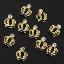 10pcs 3D Alloy Crown Flower Nail Art Charms DIY Glitter Decorations
