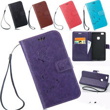 Retro Flower Pattern PU Leather Wallet Card Stand Case Cover For Huawei Ascend