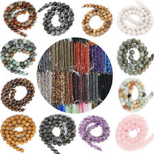 Hot Charm Natural Gemstone Round Spacer Loose Beads Fit Bracelet Necklace 4-12mm