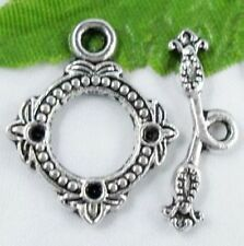 Wholesale 14/46 Sets Tibetan Silver Toggle Clasps 20x19mm (Lead-free)