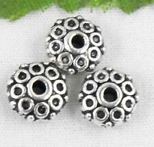 wholesale 35/120Pcs  Silver Plated  Bead Caps 8x4mm (Lead-Free)