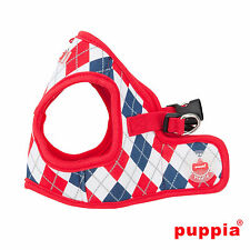 Dog Puppy Harness Soft Vest - Puppia - Argyle -  Red - Choose Size