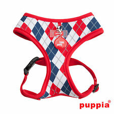 Choose Size - PUPPIA - ARGYLE - Soft Dog Puppy Harness - Red