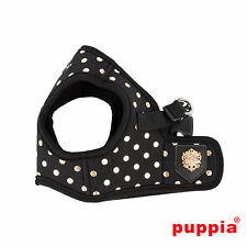Dog Puppy Harness Soft Vest- Puppia - Modern Dotty - Black - Choose Size