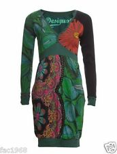 Desigual Vest Amanecer Dress Tunic Casual Thin Knit Sleeves Green Size M New BNW