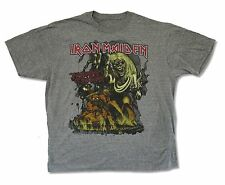 Iron Maiden Number of the Beast Mens Heather Gray T Shirt New Official Music