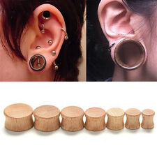 Wood Ear Plugs Organic Saddle Flesh Tunnels Expander Stretcher Gauges New