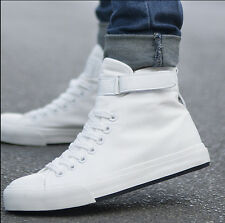 New Mens Fashion Spring High Top Canvas Shoes Running Sport Shoes Boy's Sneakers