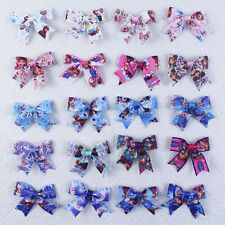 """Wholesale 50~200pcs 3"""" Girl Baby party frozen Hair accessories Bows clips 2814Y"""