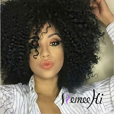 "100% Real Human Hair Live Curly Full/Front Lace Wig 12""-22""   Baby Hair"