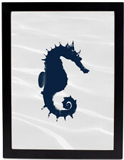 Positively Home Seahorse Framed Graphic Art