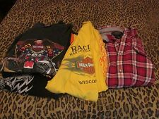 YOUR CHOICE: MEN'S WORK OR PLAY HARLEY-DAVIDSON SHIRTS. DIFFERENT STATES, SIZES