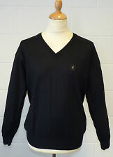 SALE! NEW MENS GABICCI VINTAGE RETRO MENS 70S V-NECK KNITTED JUMPER (BLACK) k39