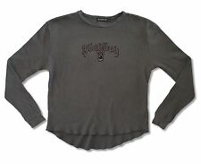 PLAYBOY! DISTRESSED THERMAL SHIRT NEW OFFICIAL LICENCED BUNNY MAGAZINE