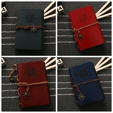 Leather Cover Vintage Faux Notepad Journal Blank Diary String Nautical Notebook