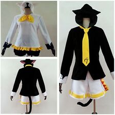 Vocaloid Kagamine Len Rin Cat Neko Hoodie With Tale Ear Cosplay Costume Full Set