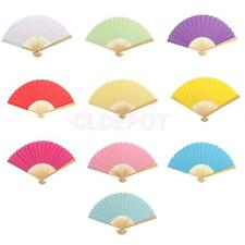 Double-sided DIY Painting Handheld Folding Paper Hand Fan Wedding Favor Gift