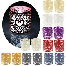 6pcs Paper Love Heart LED Tea Light Holder Wedding Votive Candle Party Decor