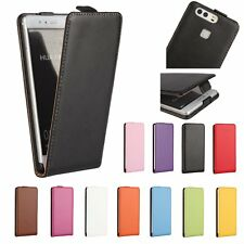 Real Genuine Flip Luxury Leather Case Cover Skin For Huawei Ascend P9/P9 Lite