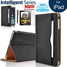 Ultra Magnetic Leather Smart Cover Case + Screen Protector For Apple iPad 2 3 4