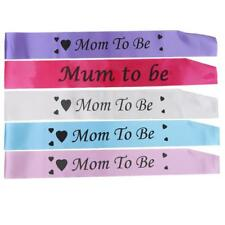 Mom to Be with Heart Pattern Sash Baby Shower Favour Gift Mother Fun