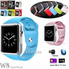 W8 Bluetooth Smart Watch Phone For Android IOS iPhone Samsung Sony HTC + Camera