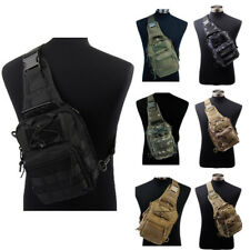 Molle Tactical Utility 3Ways 1000D Shoulder Bag Pouch Backpack Hunting Paintball
