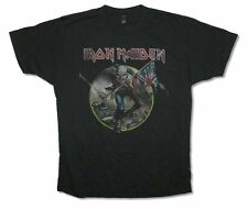 Iron Maiden Distressed Trooper Adult Black T Shirt Heavy Metal Hard Rock Band