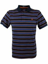 Fred Perry Skinny Striped Striped Polo T-Shirt Navy