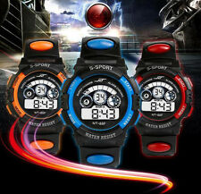 Digital LED Watch Mens Boy's Waterproof Sport Watch Date Army Quartz Wrist Watch