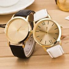 Women Ladies Roman Numerals Leather Band Sport Wrist Watch Fashion Lovers Watch