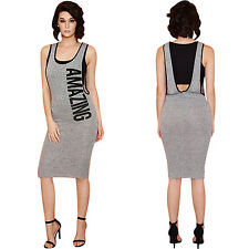 Sexy Lady Fashion Summer Casual Sleeveless Backless Slim Wrap Hip Dress Clubwear