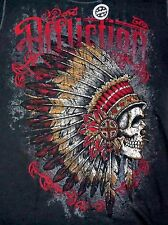 NWT Affliction REVERSIBLE T Shirt Mens L XL Long Sleeve LS NEW Black Gray