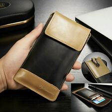 Outdoor Sports Wallet Pocket Leather Pouch Sleeve Cover Case For Samsung Phones