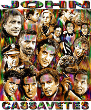 """JOHN CASSAVETES"" TRIBUTE T-SHIRT OR PRINT BY ED SEEMAN"