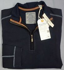 New w/ Tags Tommy Bahama 1/4 Zip Sweater Mens Size Small S Navy Blue LS NWT