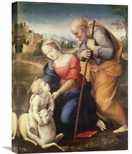 'Holy Family with the Lamb' by Raphael Painting Print on Wrapped Canvas