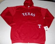 Texas Rangers Full Zip Hoodie Therma Base Delay Plus Size Double Logo MLB
