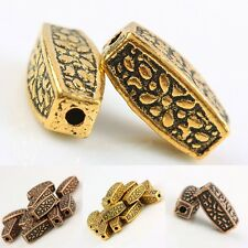 Wholesale 30Pc Copper/Gold Tone Column Cylinder Tube Loose Spacer Beads Findings