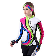 Woman Bike Riding Long Sleeve Outfits Cycling Wicking Breathable Jersey   Pants