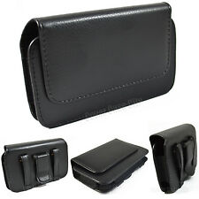 PREMIUM Leather Sideways Belt Clip Case Pouch Holster for iPhone 4 5 6 7 PLUS