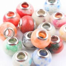 Wholesale Lot Multicolor Howlite Turquoise Gemstone Loose Charms European Bead