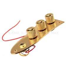 Jazz Bass Wired Control Plate Set Plated Loaded Plate