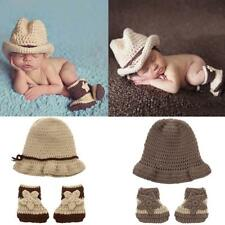 Newborn Baby Crochet Knitted Hat Shoe Set Photography Accessory Phot0 Prop